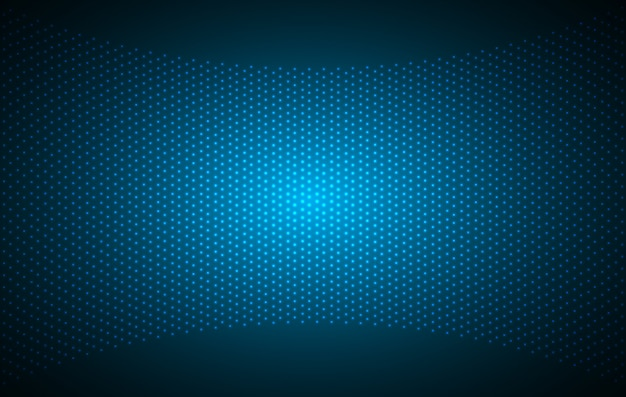 Led-blauw bioscoopscherm voor filmpresentatie. Premium Vector