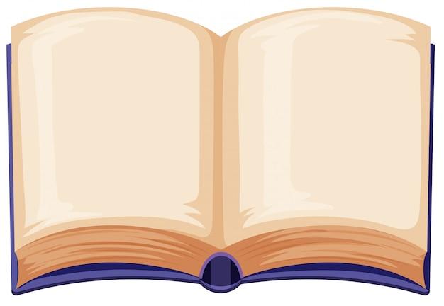Leeg boek op witte achtergrond Gratis Vector