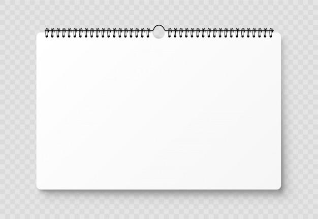Leeg geopend notitieboekje, sjabloon met zachte schaduwen op transparante achtergrond. vooraanzicht. Premium Vector