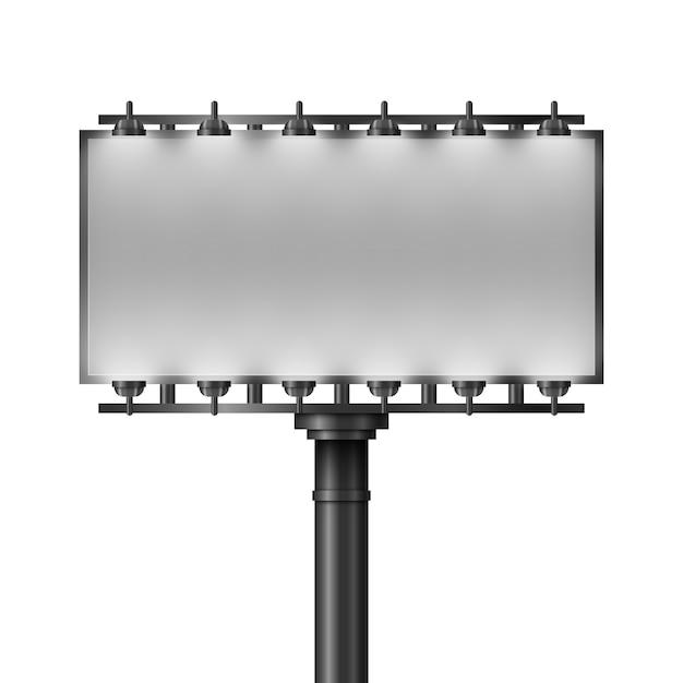 Leeg groot reclamebord voor reclame Premium Vector