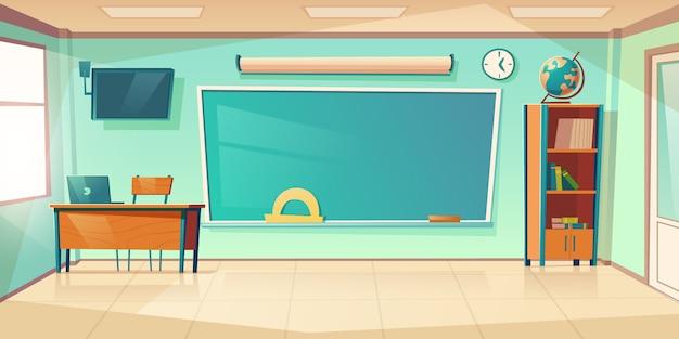 Leeg klaslokaal interieur, school of universiteit klas Gratis Vector