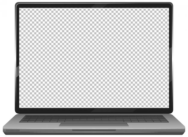 Leeg scherm laptop gadget pictogram op witte achtergrond Gratis Vector