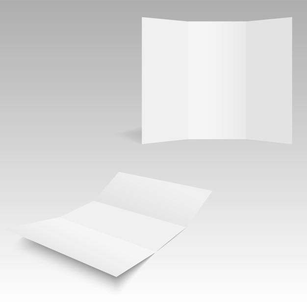 Leeg Trifold wit malpapier met zachte schaduwen. | Vector | Premium ...