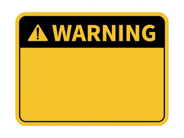 Leeg waarschuwingsbord. Premium Vector