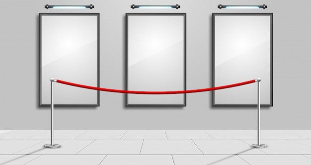 Leeg wit modern fotokader Premium Vector
