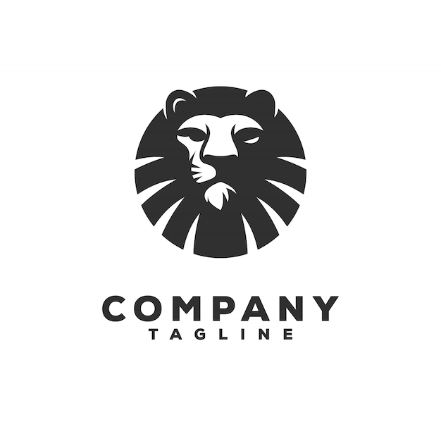 Leeuw logo ontwerp Premium Vector