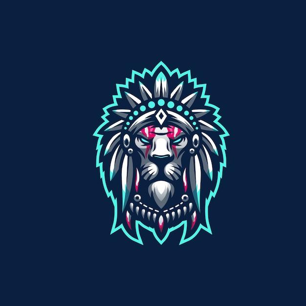Leeuw logo Premium Vector