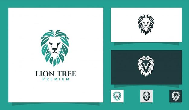 Leeuw natuurlijk logo Premium Vector
