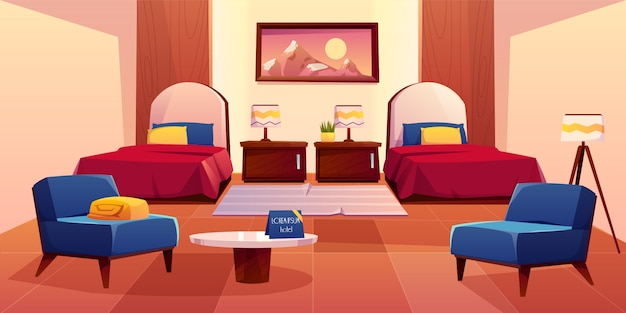 Lege appartement interieur illustratie Gratis Vector