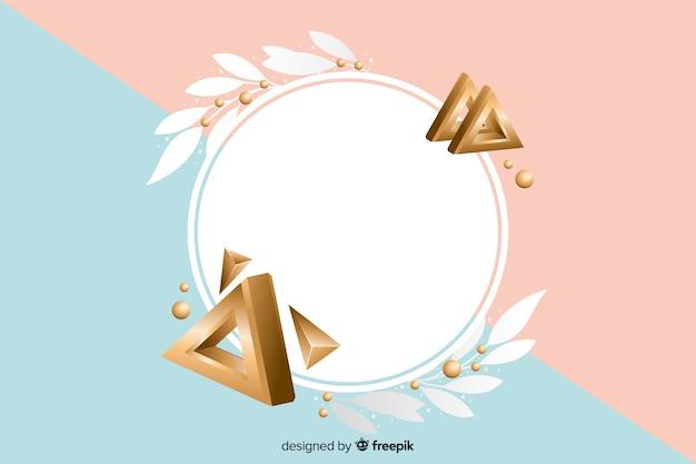 Lege banner met geometrische vormen in 3d effect Gratis Vector