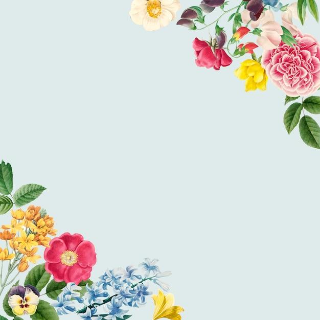 Lege bloemen kopie ruimte Gratis Vector