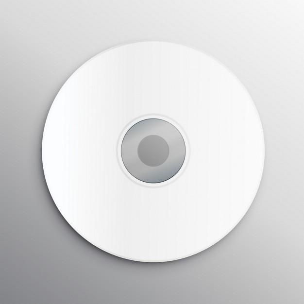Lege cd cover ontwerp mockup template Gratis Vector