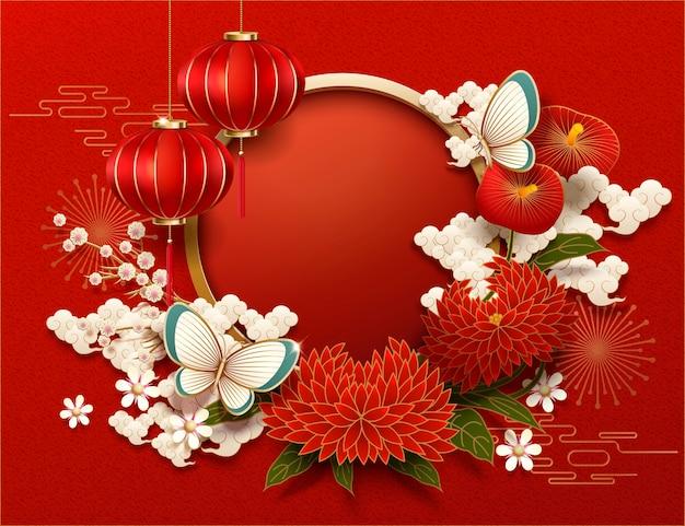 Lege chinees nieuwjaar achtergrond Premium Vector