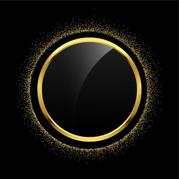 Lege cirkel gouden glitter frame achtergrond Gratis Vector