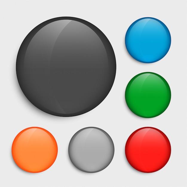Lege cirkelknopen die in vele kleuren worden geplaatst Gratis Vector