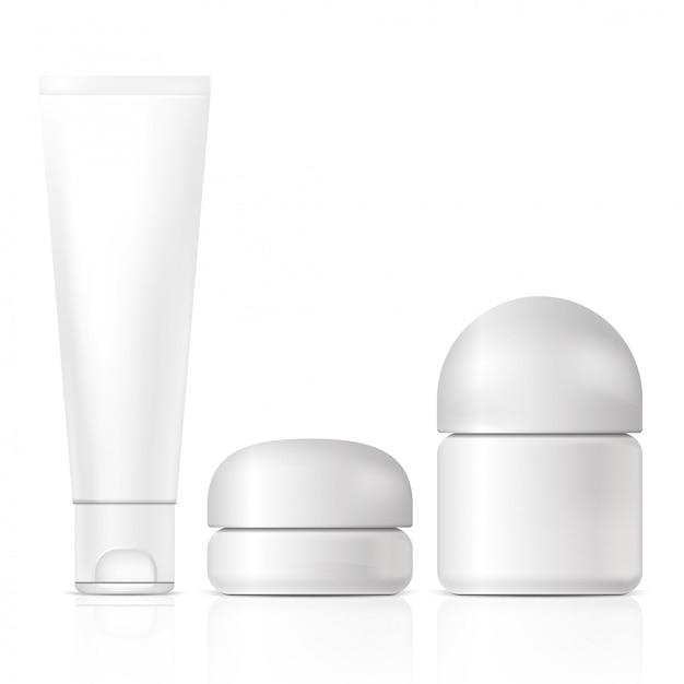 Lege cosmetische producten. illustratie geïsoleerd. grafisch concept voor uw ontwerp Premium Vector
