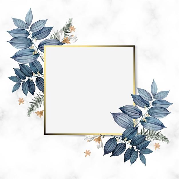 Lege floral frame ontwerp vector Gratis Vector