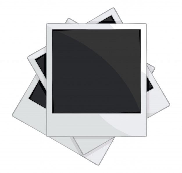 Lege fotolijsten op witte achtergrond Premium Vector