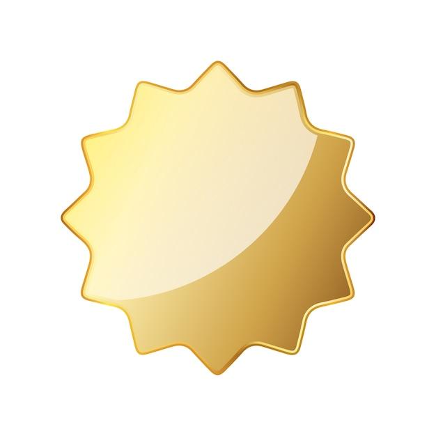 Lege gouden zegel pictogram. vector illustratie Premium Vector