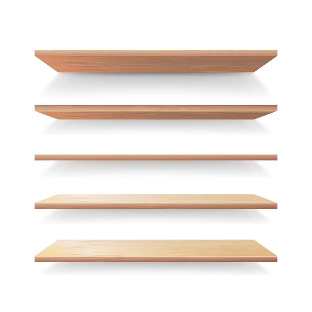 Lege houten planken Premium Vector