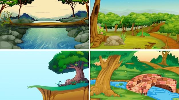 Lege, lege landschap natuur scènes Gratis Vector
