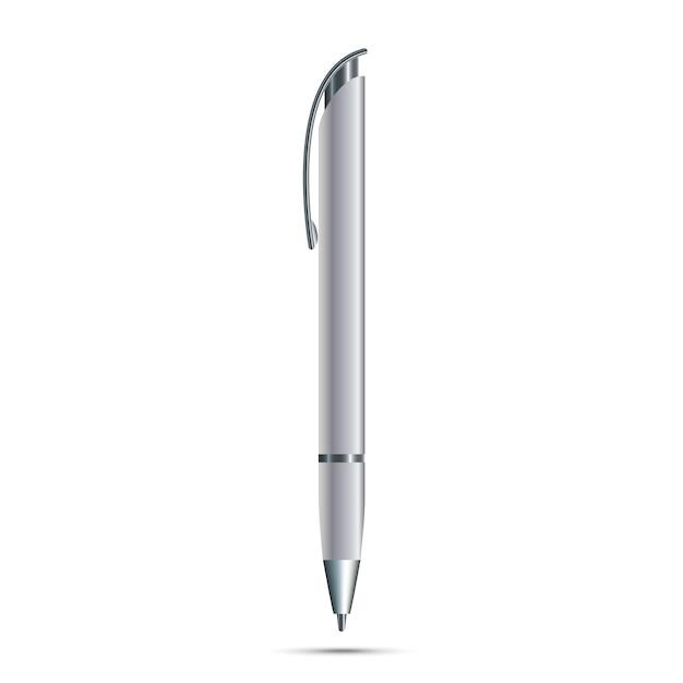 Lege pen geïsoleerd op een witte achtergrond Premium Vector