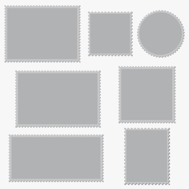 Lege postzegels instellen. Premium Vector