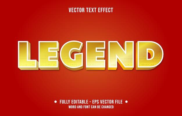 Legenda bewerkbaar teksteffect moderne gouden verloopstijl Premium Vector