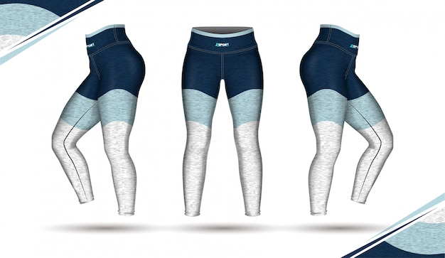 Leggings broek training mode illustratie vector met schimmel Premium Vector