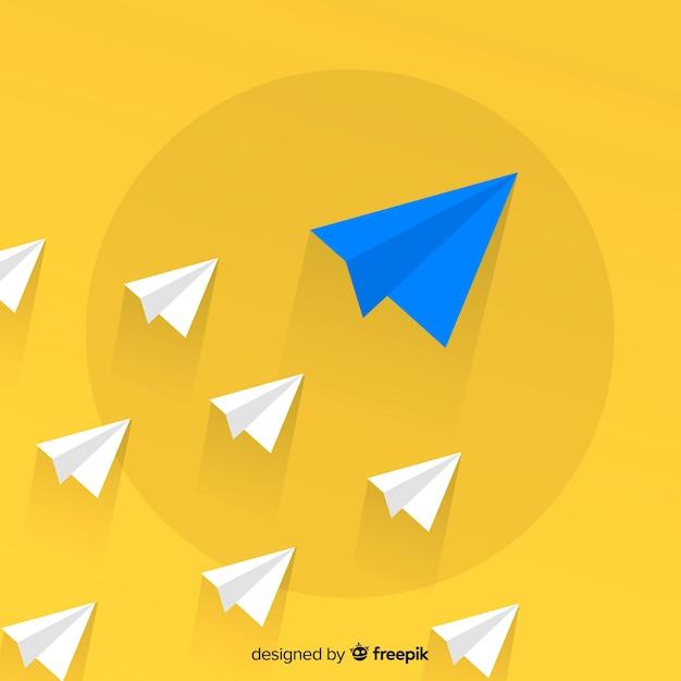 Leiderschap concept met papieren vlakken Gratis Vector