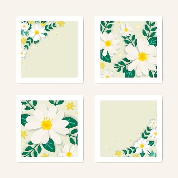 Lente bloemen illustratie collectie Gratis Vector