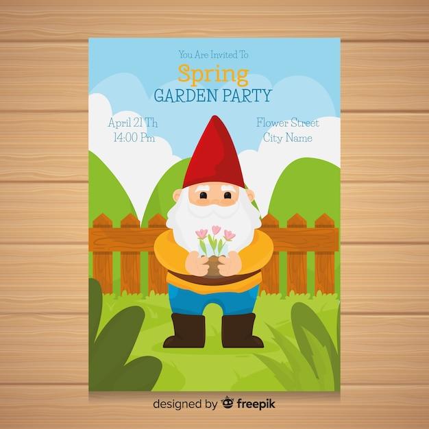 Lente tuinfeest flyer Gratis Vector