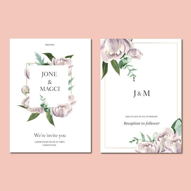 Lente uitnodigingskaart met florale esdoorn en bladeren. botanische versheid, dankkaart, de bloem van de moederdag Gratis Vector