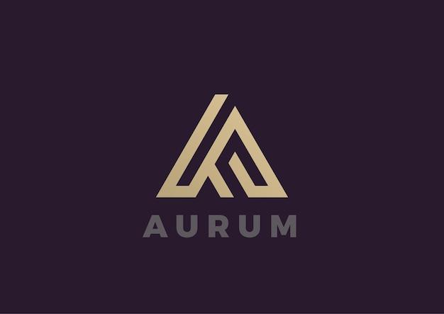 Letter a-logo. lineaire stijl Gratis Vector