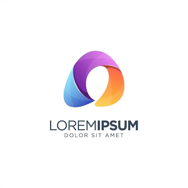 Letter a logo sjabloon Premium Vector