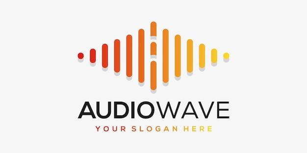 Letter a met pols. akkoord element. logo sjabloon elektronische muziek, equalizer, winkel, dj-muziek, nachtclub, disco. Premium Vector