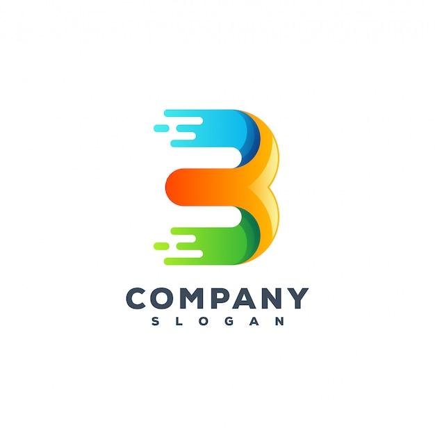 Letter b logo ontwerp Premium Vector