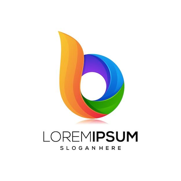 Letter b logo pictogram Premium Vector