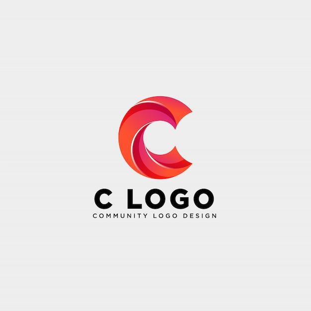 Letter c community menselijk logo Premium Vector