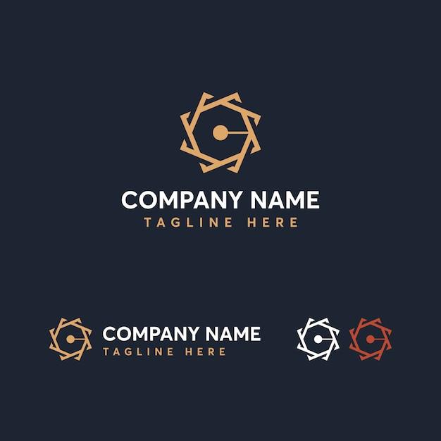 Letter c logo sjabloon Premium Vector