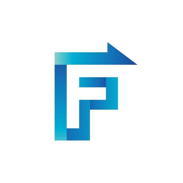 Letter f arrow logo vector Premium Vector