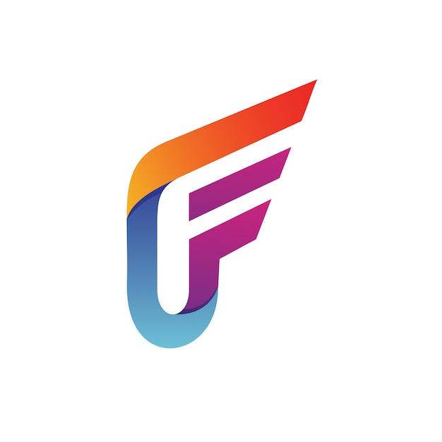 Letter f logo vector Premium Vector
