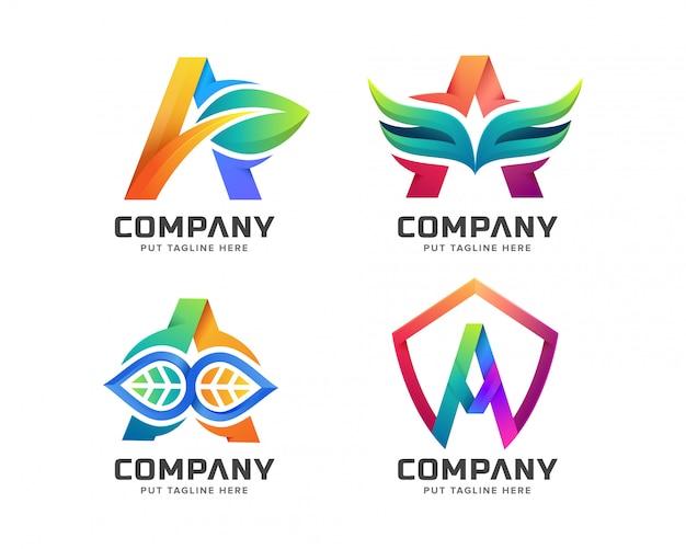 Letter initial een logo sjabloon voor bedrijf Premium Vector