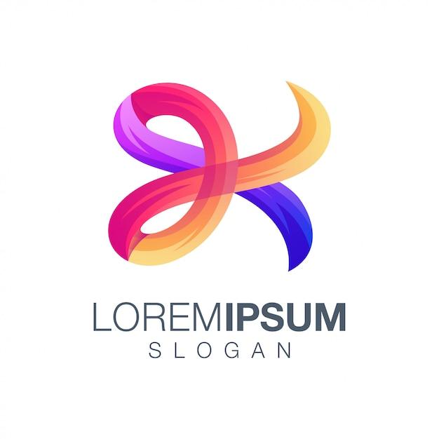Letter k gradiëntkleur logo ontwerp Premium Vector