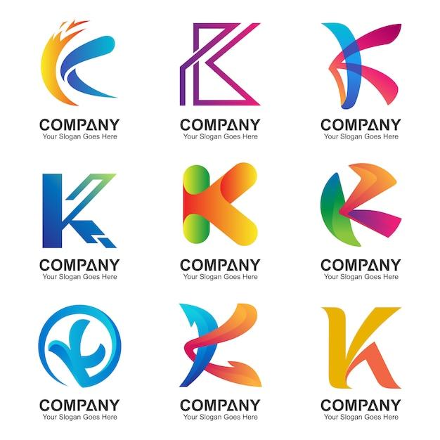 Letter k-logo set Premium Vector