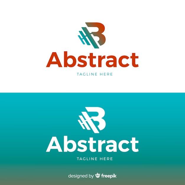 Letter logo sjabloon voor lichte en donkere achtergrond Gratis Vector