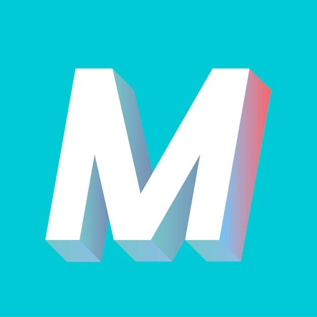 Letter m Gratis Vector