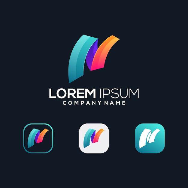 Letter n premium pictogram Premium Vector