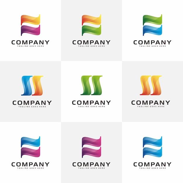 Letter n, s modern abstract-logo Premium Vector