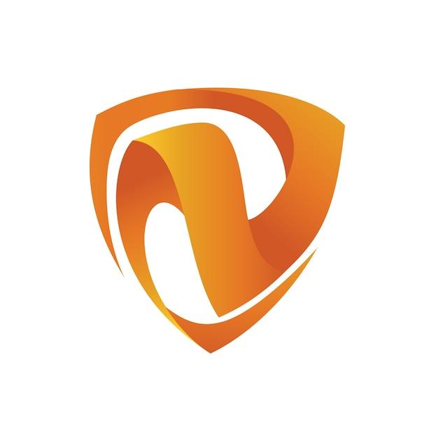 Letter n schild logo sjabloon Premium Vector